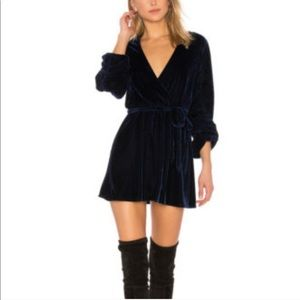 Tularosa Blue Velvet Tawney Dress